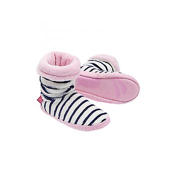 Joules Junior Padabout Calcetines Slipper - French Navy Stripe
