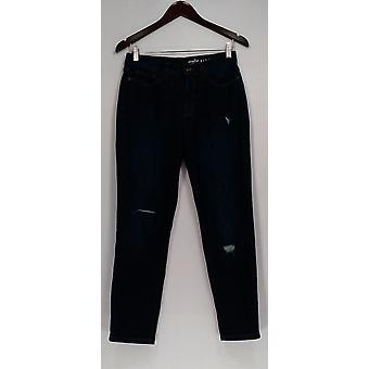 Denim & Co. Jeans Classic Denim Ankle Dark Indigo Blue A304472