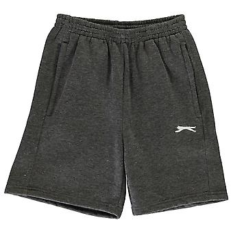 Slazenger Kids Boys Fleece Shorts Junior Pants Trousers Bottoms Zip Drawstring