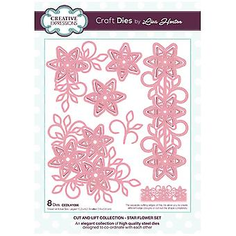 Creative Expressions Die Set Star Flower Set by Lisa Horton Set of 8 | Cut and Lift Collection