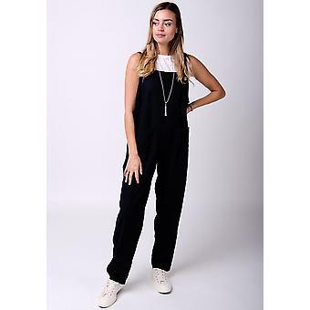 Roxanne linen jumpsuit in black