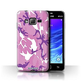 STUFF4 Case/Cover for Samsung Z1/Z130/Pink 4/Camouflage Army Navy