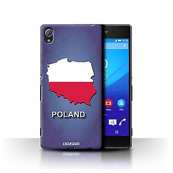 STUFF4 Case/Cover for Sony Xperia Z4/Poland/Polish/Flag Nations