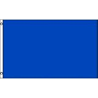 Plain Blue Flag 5ft x 3ft (100% Polyester) With Eyelets For Hanging