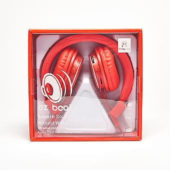 Super Sound Wireless Earphone 4 in 1 Headset - Red