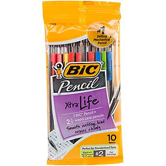 BIC Xtra Life Pencils 10/Pkg-Clear Barrels MPP101