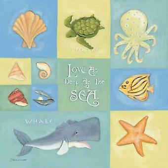 Love as Deep as the Sea Poster Print by Stephanie Marrott