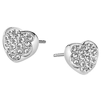 Guess ladies earrings stainless steel Silver cubic zirconia UBE71514