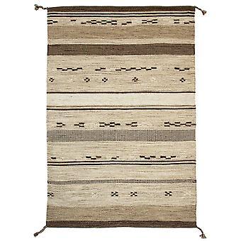 Modern Beige Tribal Wool Rug - Mensa