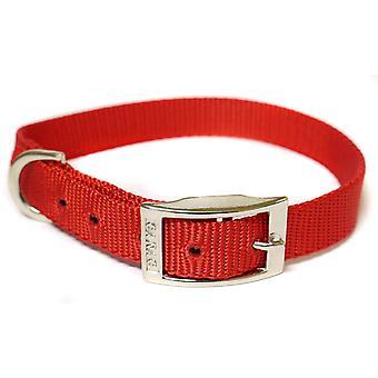 CANAC Single kraag 10mmx20 - 25cm rood