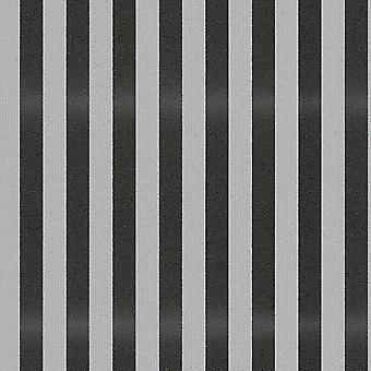Stripe Wallpaper Stripey Striped Glitter Sparkle Embossed Black Grey AS Creation