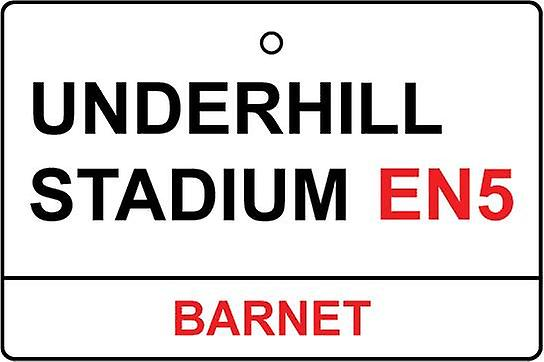 Barnet / Underhill Stadium Street Sign Car Air Freshener