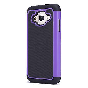32nd shock proof case + penna för Samsung Galaxy J3 (2016) - lila