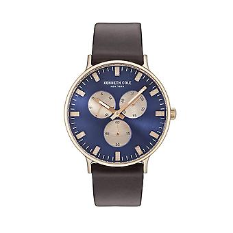 Kenneth Cole New York Herren Uhr Armbanduhr Leder KC14946002