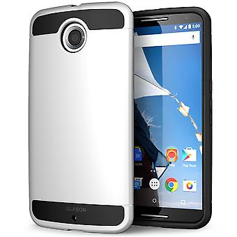 i-Blason Google Nexus 6 Case - Unity Series Armored 2-Layer Ultra Slim Hybrid Case - White