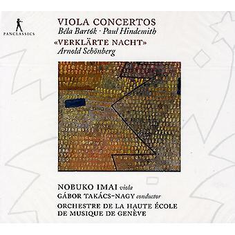 Nobuko Imai - B La Bart K, Paul Hindemith: Viola koncerter; SCH Nberg: Verkl Rte Nacht [CD] USA importerer