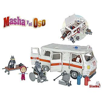 Simba Masha Y El Oso Ambulancia (Jouets , Maternelle , Playsets , Véhicules)