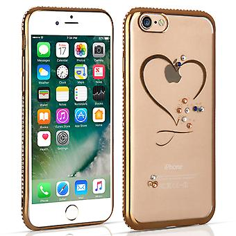 Apple iPhone 7 Diamond Edge Case Gold