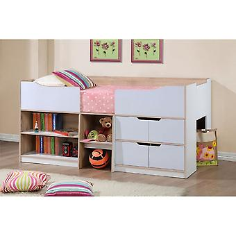 Birlea Paddington Cabin Bed White & Light Oak