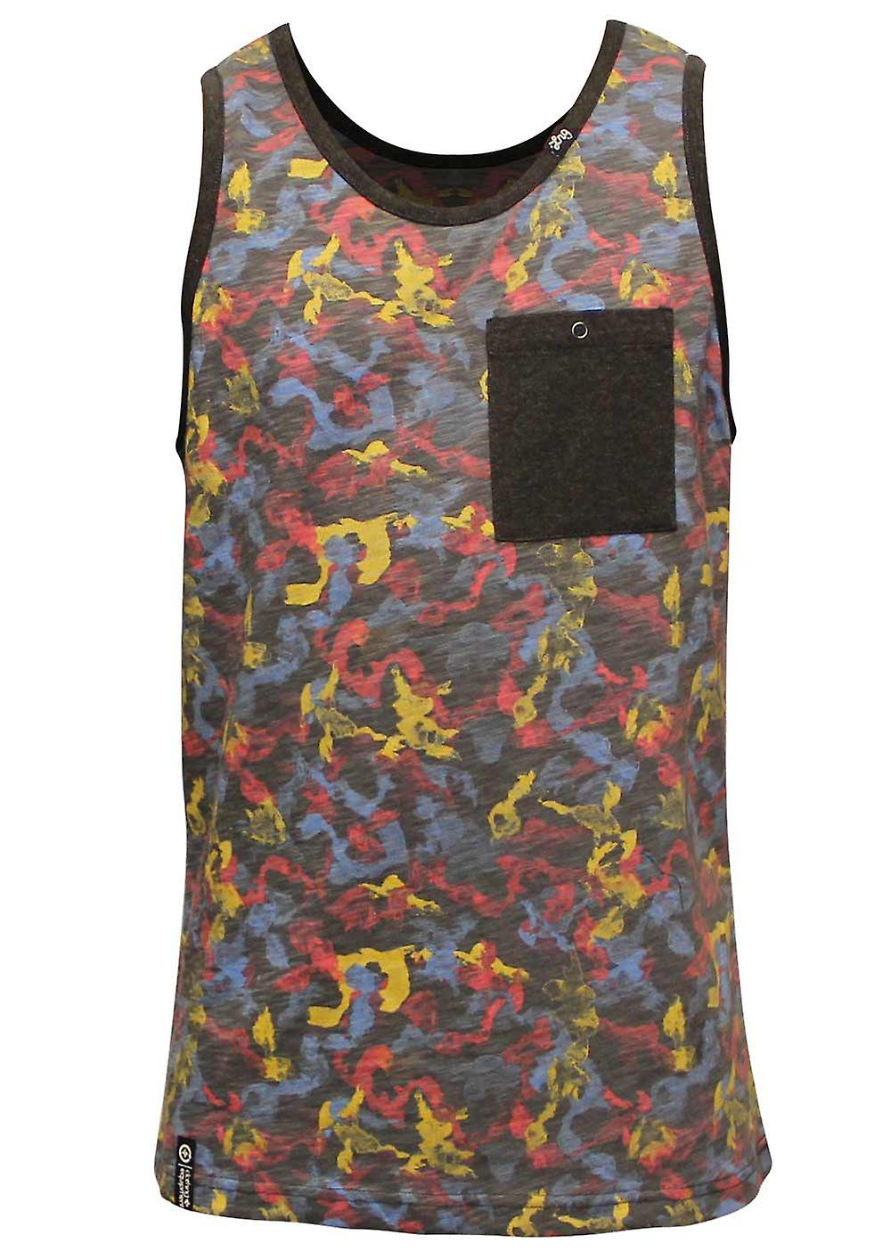 Lrg Tree 47 Tank Top Black Camouflage
