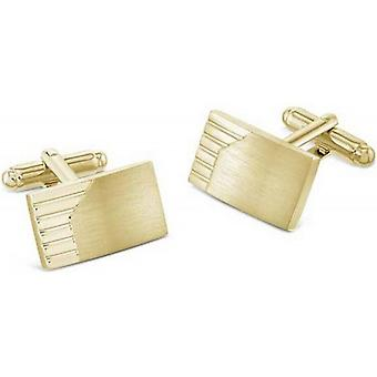 Duncan Walton Morfe Brushed Gold Plated Cufflinks - Gold