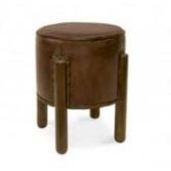 Moycor Round stool Leather 38x50