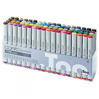 Copics Copics klassiske markør grundfarver 72 Pack A