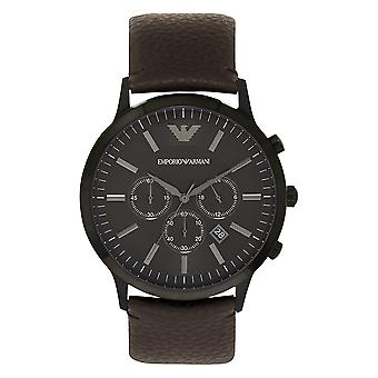 Armani Watches Ar2462 Sportivo Brown Leather Chronograph Mens Armani Watch