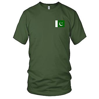 Pakistan Land Nationalflagge - Stickerei Logo - 100 % Baumwolle T-Shirt Herren T Shirt