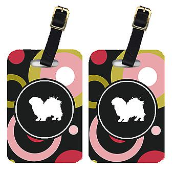 Carolines Treasures  KJ1152BT Pair of 2 Tibetan Spaniel Luggage Tags