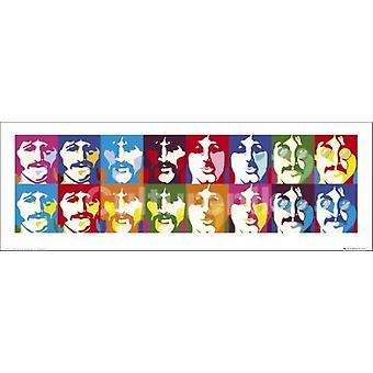 Beatles Sea Of Colors Slim Poster Poster Print