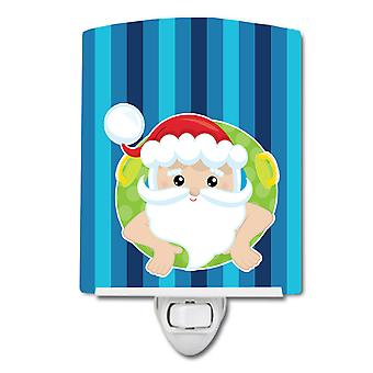 Carolines Treasures  BB9069CNL Beach Santa Claus #2 Ceramic Night Light