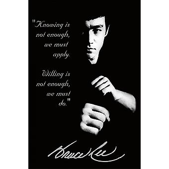 Bruce Lee Quote Poster Poster Print
