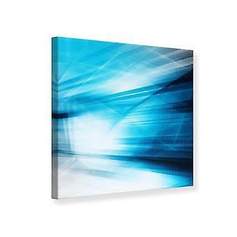 Canvas Print abstracte Laser show