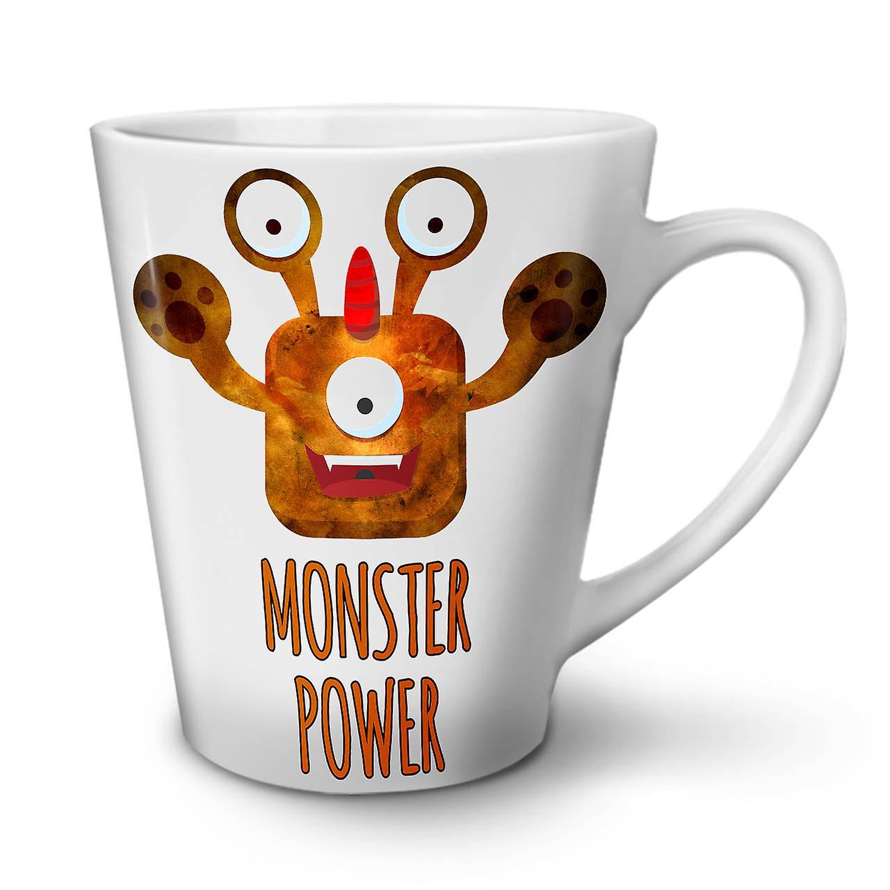 OzWellcoda Céramique Latte Blanc Nouveau Thé Power Café En Monster 12 Mug mNn0vy8wO