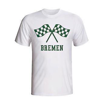 Werder Bremen Waving Flags T-shirt (white)
