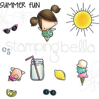 Stamping Bella Little Bits Cling Stamp Set-Ice Cream & Lemonade EB514