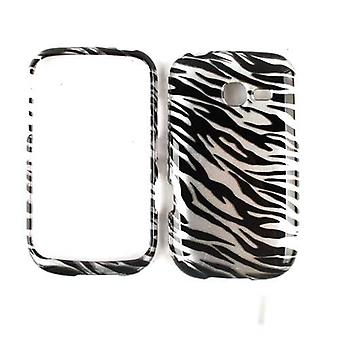 Unlimited Cellular Snap-On Case for Samsung Freeform 5 R480C (Trans. Zebra Print