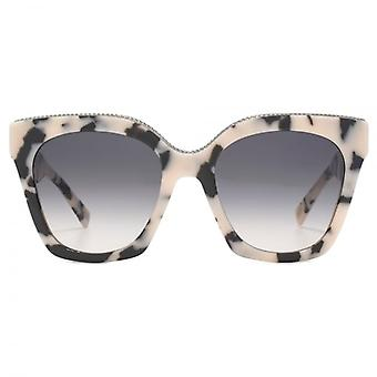 Marc Jacobs Metal Twist Brow Detail Cateye Sunglasses In Pink Havana