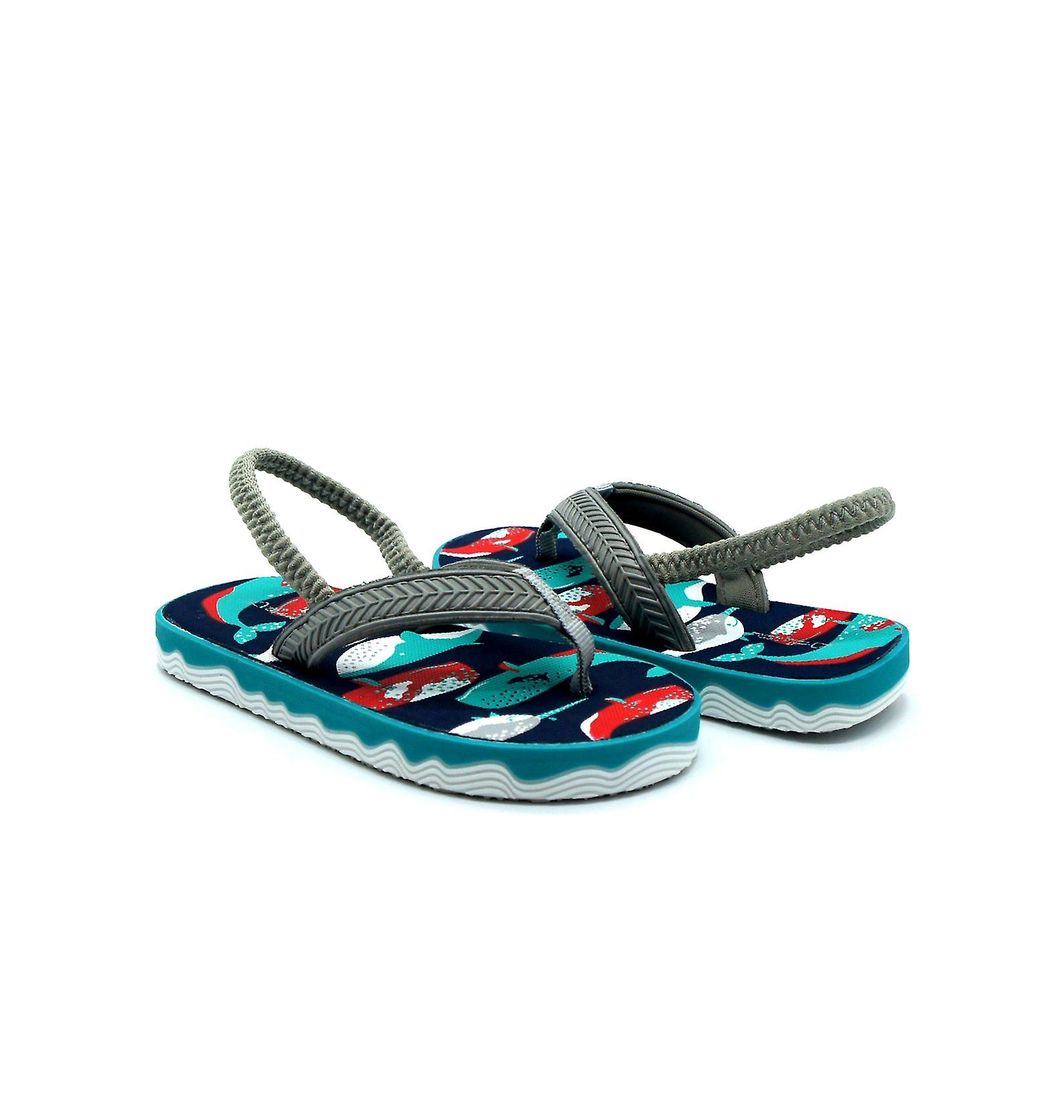 Atlantis Shoes Kids Boys Supportive Cushioned Comfortable Sandals Flip Flops Ocean Discovery Green