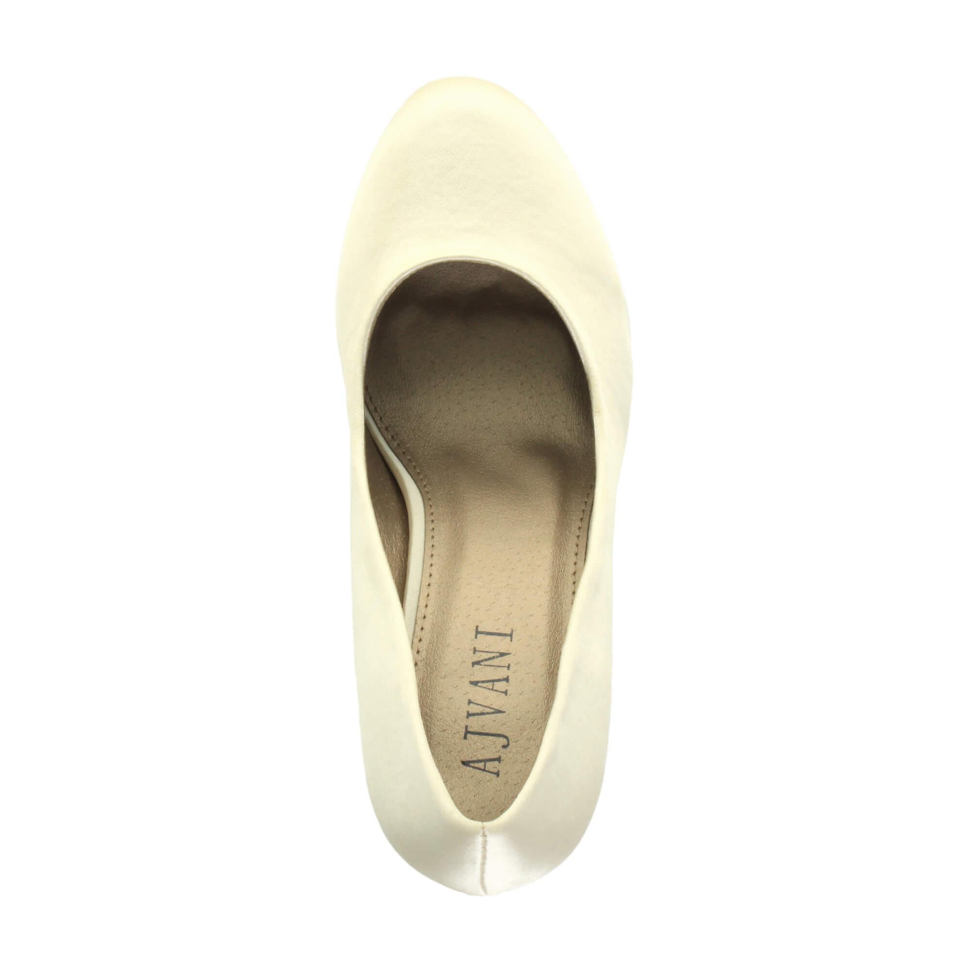 Ajvani womens mid high heel platform party work evening court party prom wedding bridal court evening shoes pumps 5b61b9