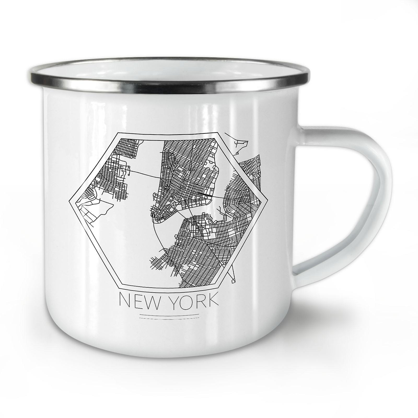 Whitetea Émail City Mug10 Carte Café OzWellcoda Nouvelle York New uOXiPkZ