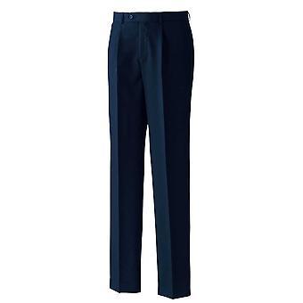 Premier Men's Single Pleat Polyester Business Trousers Black