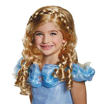 Cinderella Movie Disney Princess Ella Blonde Story Book Week Girls Costume Wig