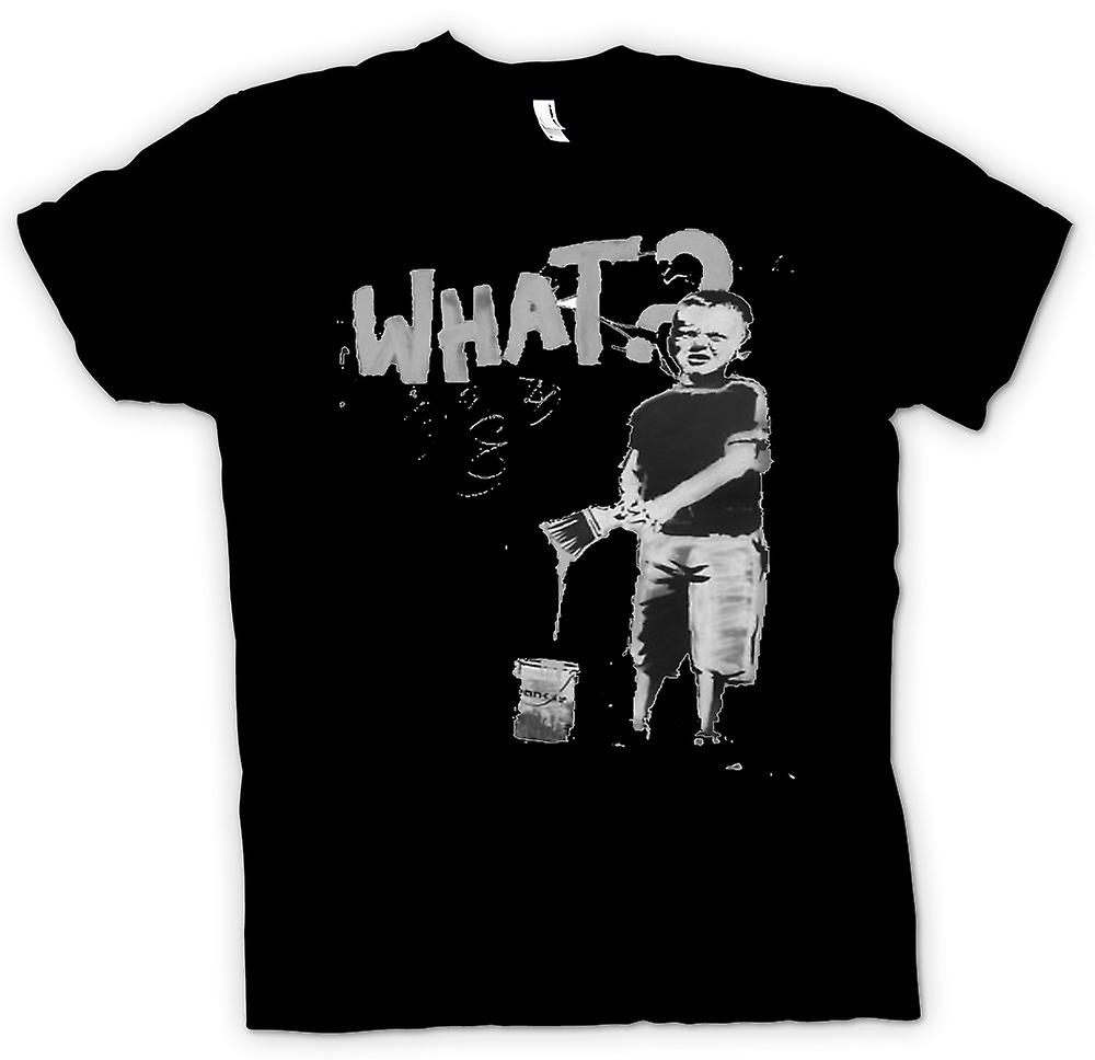 Kids T-shirt - Banksy Graffiti Art - What