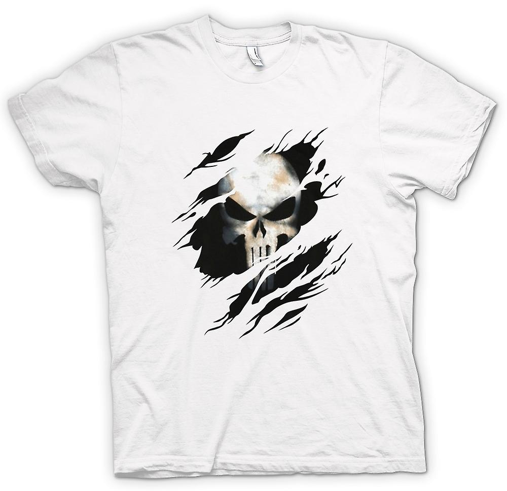 Womens T-shirt - The Punisher - Ripped Effect