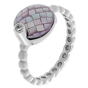 Orphelia Silver 925 Ring With Mosaic Mop And  Zirconium   ZR-7231