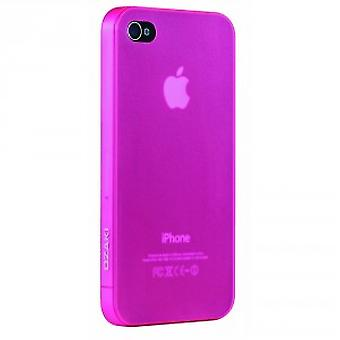 Ozaki iCoat Hard Cover tilfelle 0.4mm for iPhone 4 / iPhone 4S - rosa