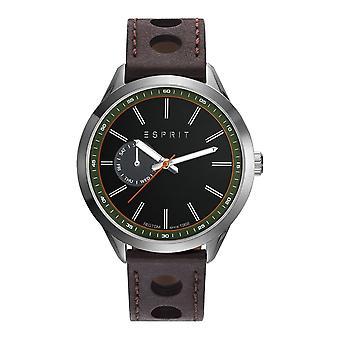 Esprit Herren Uhr Armbanduhr TP10921 Leder ES109211003