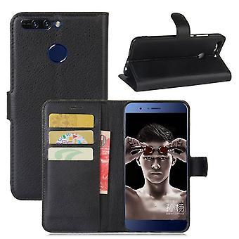 Tasche Wallet Premium Schwarz für Huawei Honor 8 Pro Schutz Hülle Case Cover Etui Neu